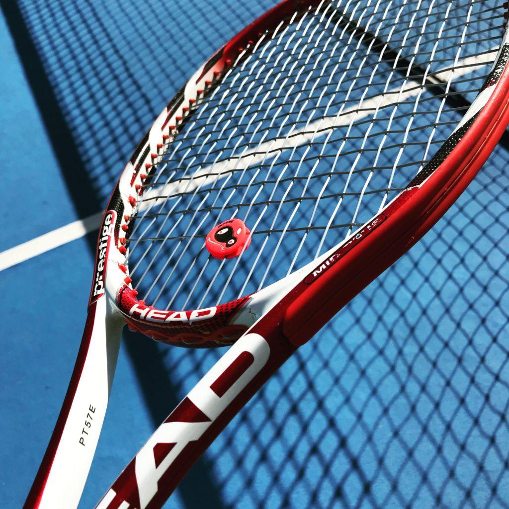 Ernests Gulbis tennis racquet