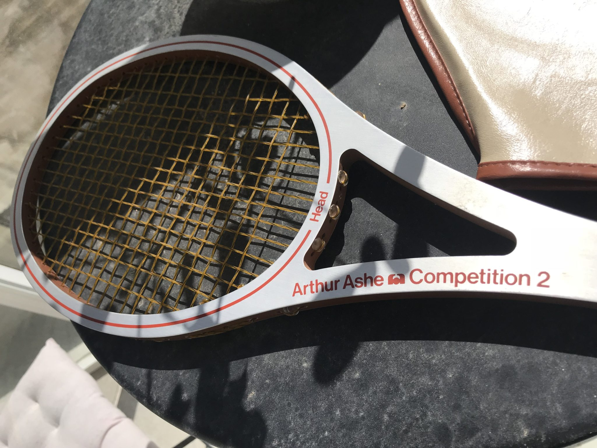 250f974fec This is the racquet Arthur Ashe won Wimbledon with in 1975. Mint condition  and just a nice throwback to the past. Worth watching the commercial for  this ...