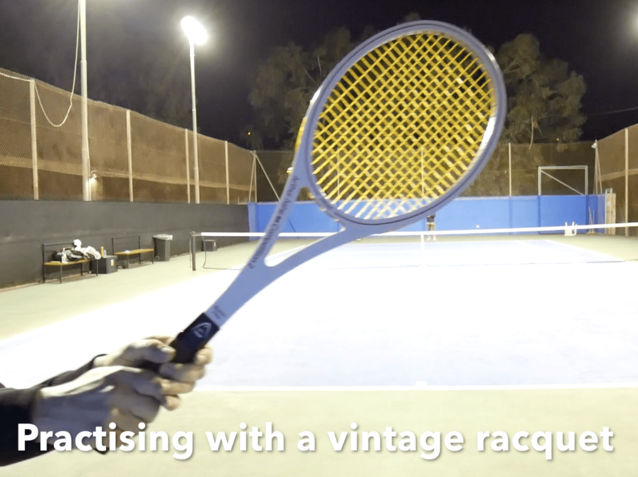 Playing with vintage tennis rackets - Arthur Ashe