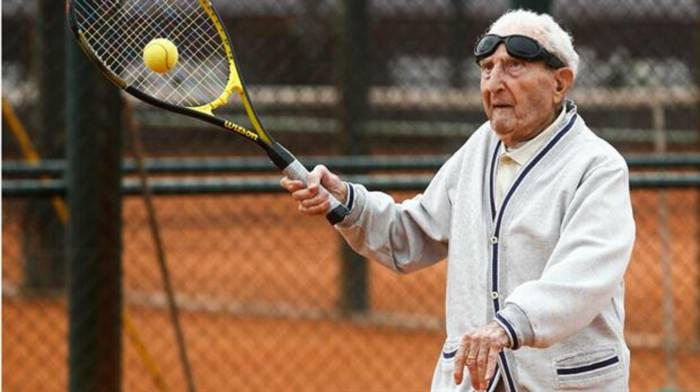 100 year old tennis player