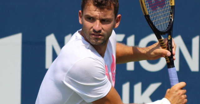 Dimitrov is testing a new racquet