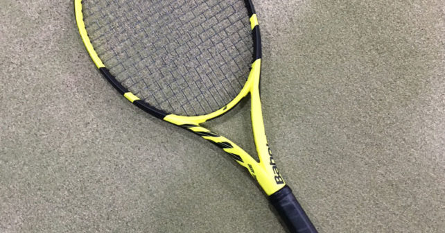 New Babolat Pure Aero_Spin grommets