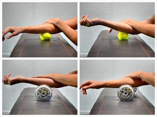 Warming up for tennis - foam rolling