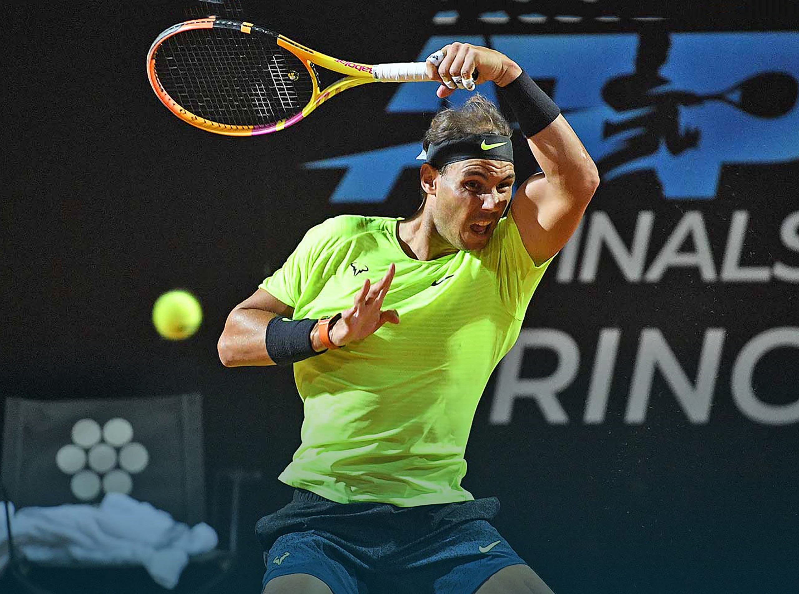 Rafa's New Racquet Paint | Tennisnerd.net - What is Rafa's racquet?